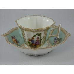 Antique Dresden Cup &...