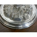 ANTIQUE ETCHED GLASS HURRICANE STORM LANTERN LAMP SHADE FRILLED RIM CANDLE