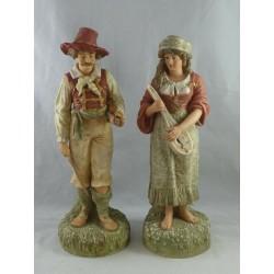 Pair of Victorian Parian...